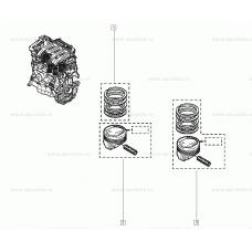 Piston cu biela Renault Megane II Scenic II Kangoo Clio II Laguna II Modus 1.6 16v benzina 7701476930